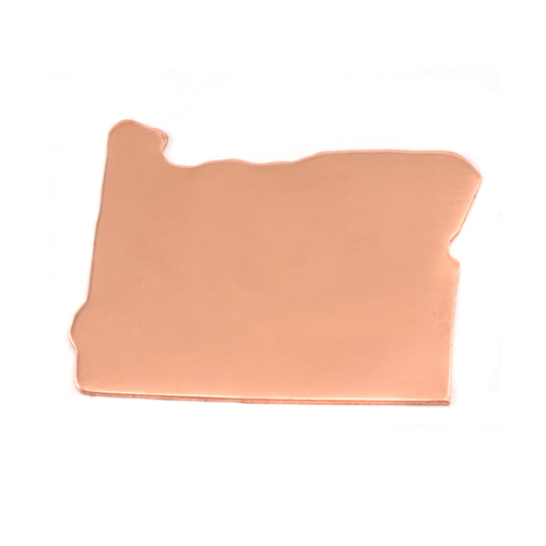 Metal Stamping Blanks Copper Oregon State Blank, 24g