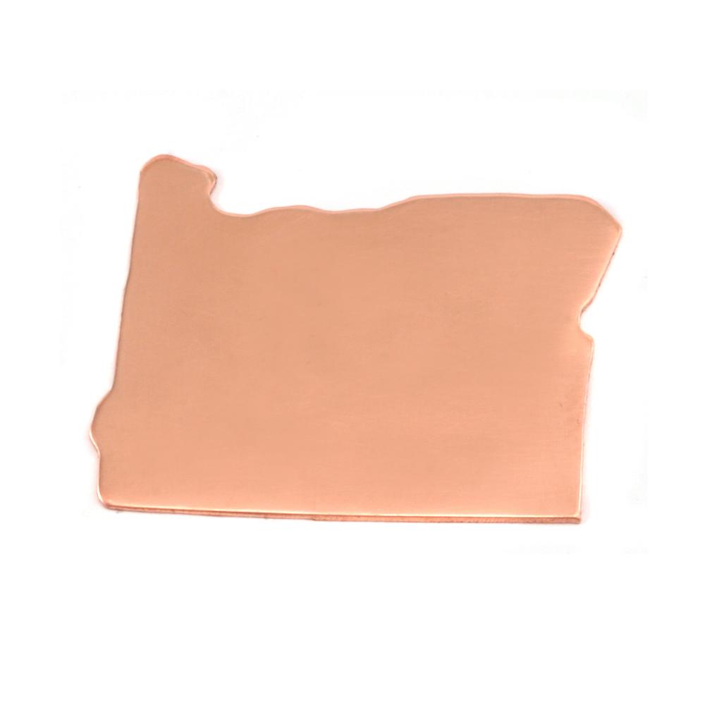 Metal Stamping Blanks Copper Oregon State Blank, 24g