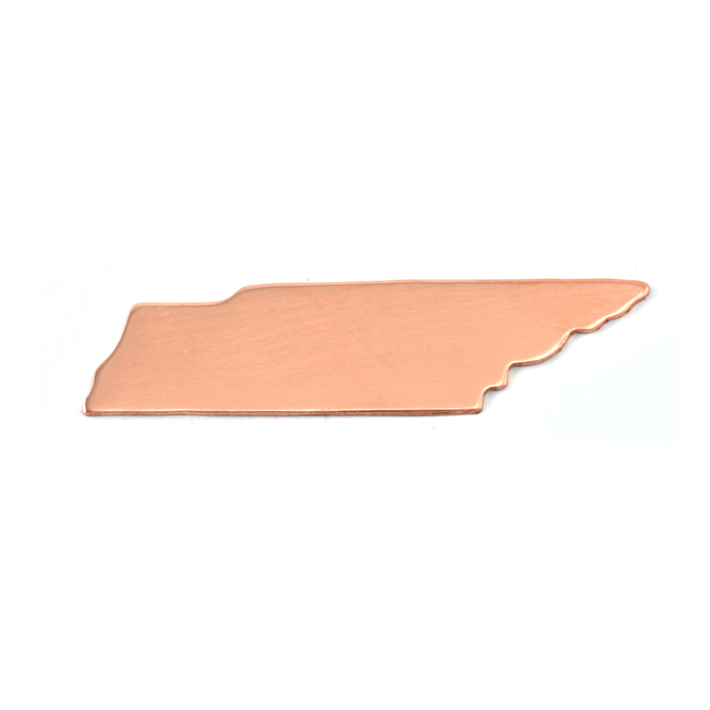 Metal Stamping Blanks Copper Tennessee State Blank, 24g