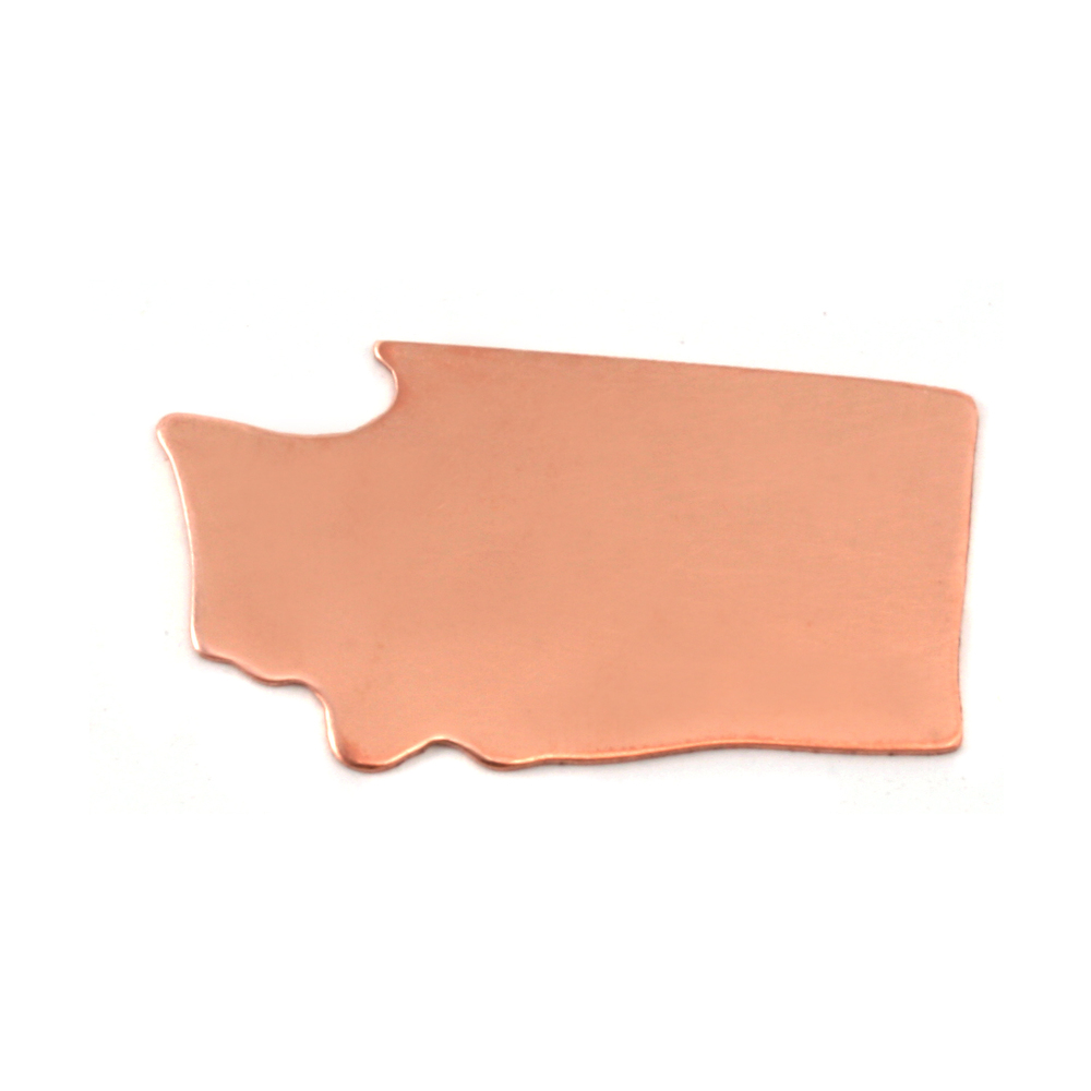 Metal Stamping Blanks Copper Washington State Blank, 24g