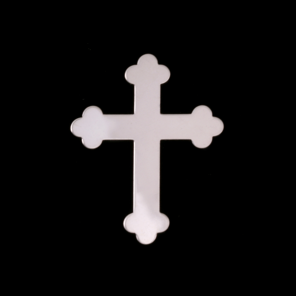 Metal Stamping Blanks Sterling Silver Fancy Cross, 24g