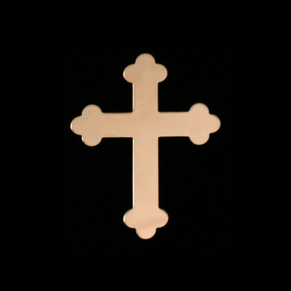 Metal Stamping Blanks Gold Filled Fancy Cross, 24g