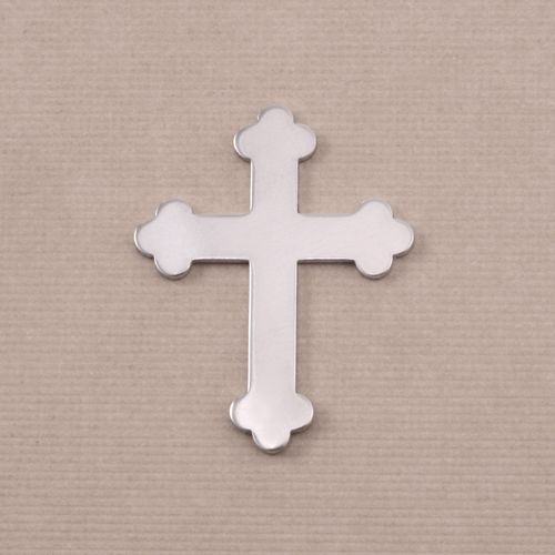 Metal Stamping Blanks Aluminum Fancy Cross, 18g