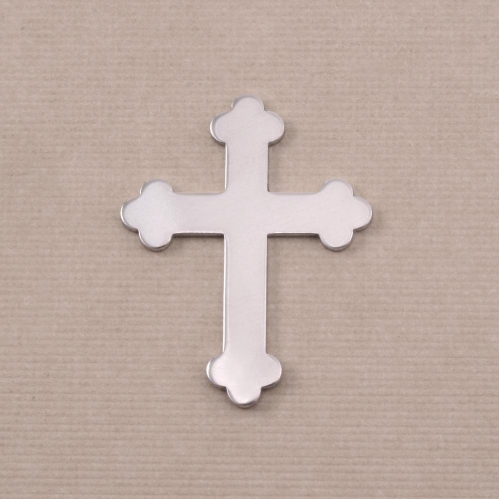 Metal Stamping Blanks Aluminum Fancy Cross, 18g