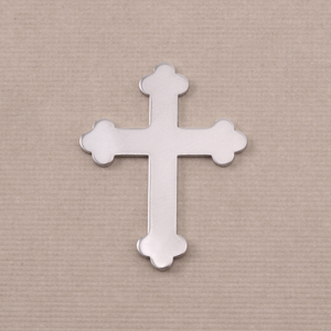 "Metal Stamping Blanks Aluminum Fancy Cross, 30mm (1.18"") x 23.5mm (.92""), 18g"