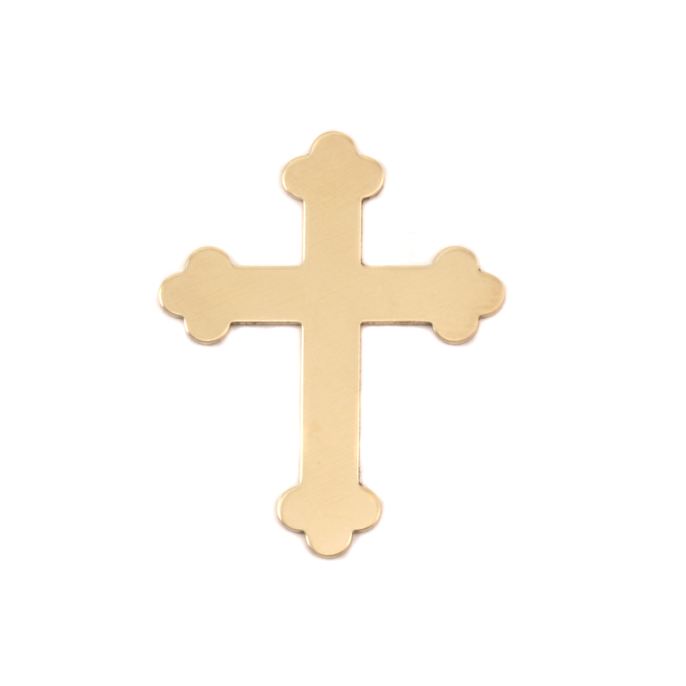 Metal Stamping Blanks Brass Fancy Cross, 24g