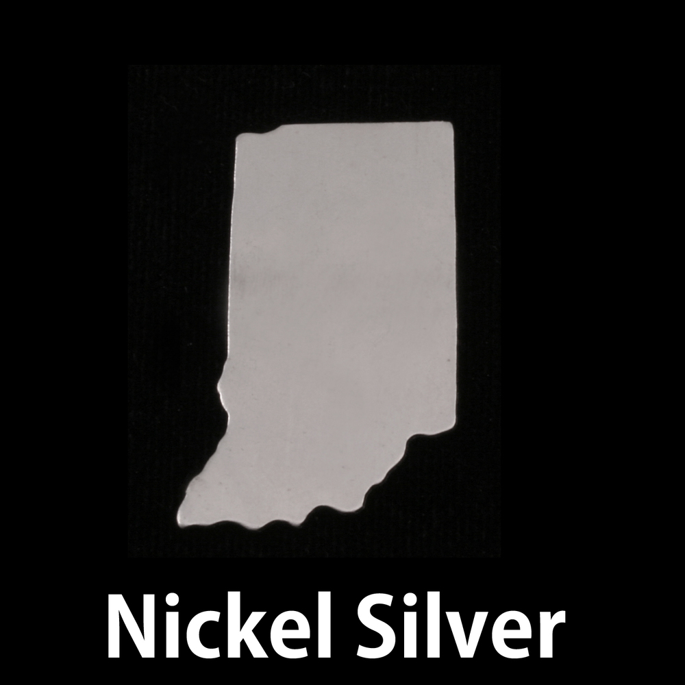 Metal Stamping Blanks Nickel Silver Indiana State Blank, 24g