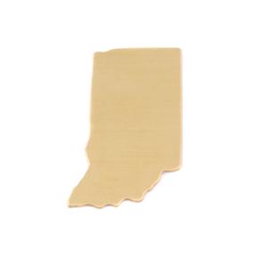 Metal Stamping Blanks Brass Indiana State Blank, 24g