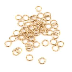 Chain & Jump Rings Brass 5mm I.D. 18 Gauge Jump Rings, pack of 50