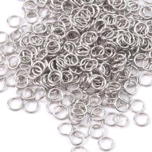 Jump Rings Aluminum 4.5mm I.D. 18 Gauge Jump Rings,1/2 ounce pack