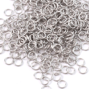 Chain & Jump Rings Aluminum 5mm I.D. 18 Gauge Jump Rings, 1/2 ounce pack