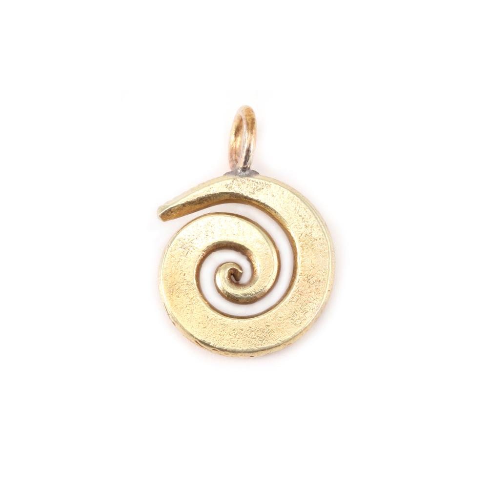 "Metal Stamping Blanks Bronze Small Spiral Pendant 5/8"" (16mm)"