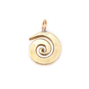 "Metal Stamping Blanks Bronze Small Spiral Pendant 5/8"" (16mm)"