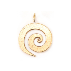 "Metal Stamping Blanks Bronze Medium Spiral Pendant 3/4"" (19mm)"