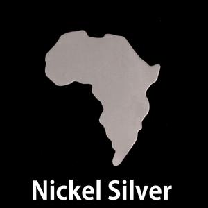 Metal Stamping Blanks Nickel Silver Africa Blank, 24g
