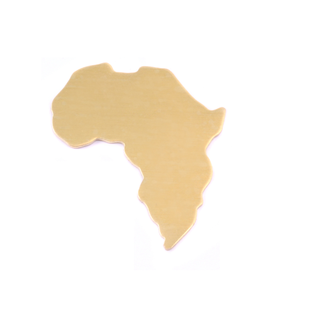 Metal Stamping Blanks Brass Africa Blank, 24g