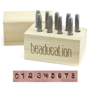 "Metal Stamping Tools Beaducation Kismet Number Stamp Set 3/32"" (2mm)"