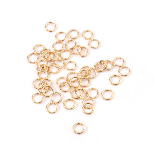 Chain & Jump Rings Brass 4.25mm I.D. 20 Gauge Jump Rings, pack of 50