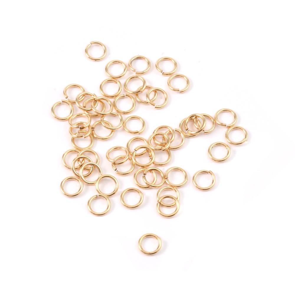 Jump Rings Brass 4mm I.D. 20 Gauge Jump Rings, pack of 50