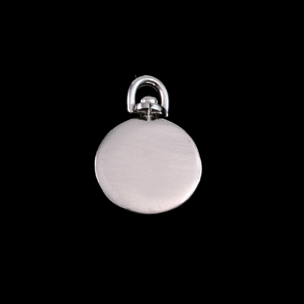 "Metal Stamping Blanks Sterling Silver Circle Swivel, 13.5mm (.52""), 16g"