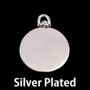 Metal Stamping Blanks Silver Plated Brass Large Circle Swivel Pendant