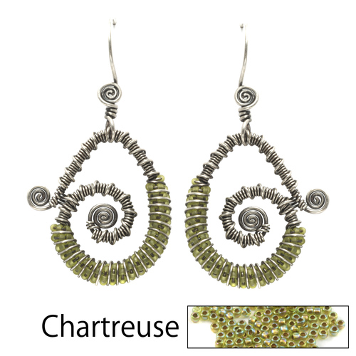 Kits & Collections Continuum Earrings Kit - Chartreuse