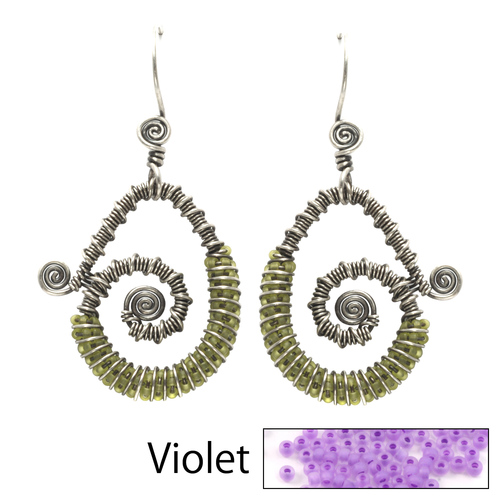Kits & Collections Continuum Earrings Kit - Violet