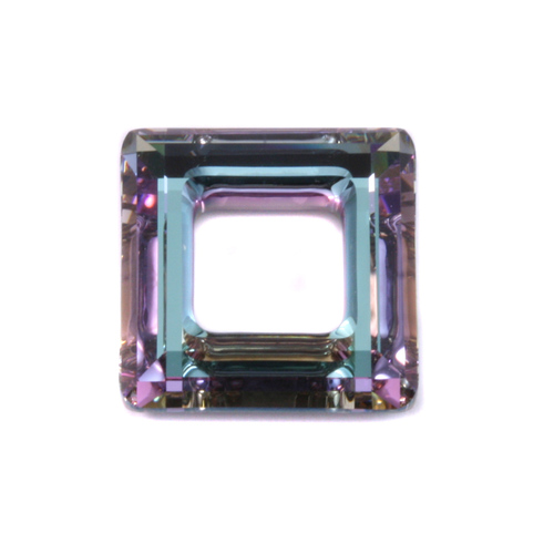 Crystals & Beads Swarovski Crystal Square Ring - Light Vitrail 20mm