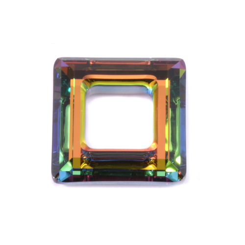 Crystals & Beads Swarovski Crystal Square Ring - Medium Vitrail 20mm