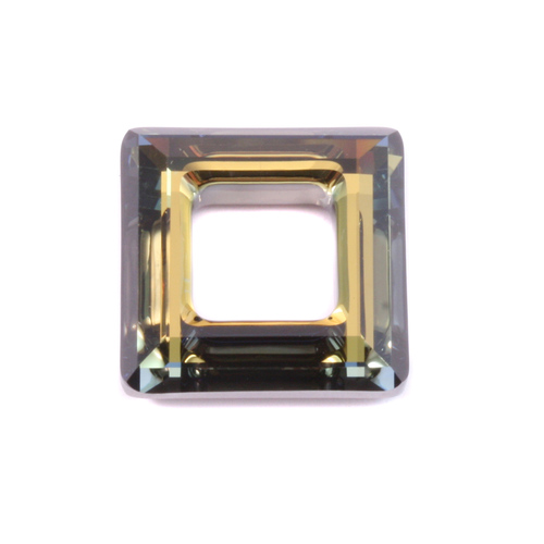 Crystals & Beads Swarovski Crystal Square Ring- Crystal Tabac 20mm