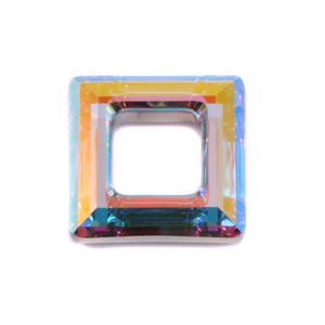 Crystals & Beads Swarovski Crystal Square Ring - Crystal AB 20mm