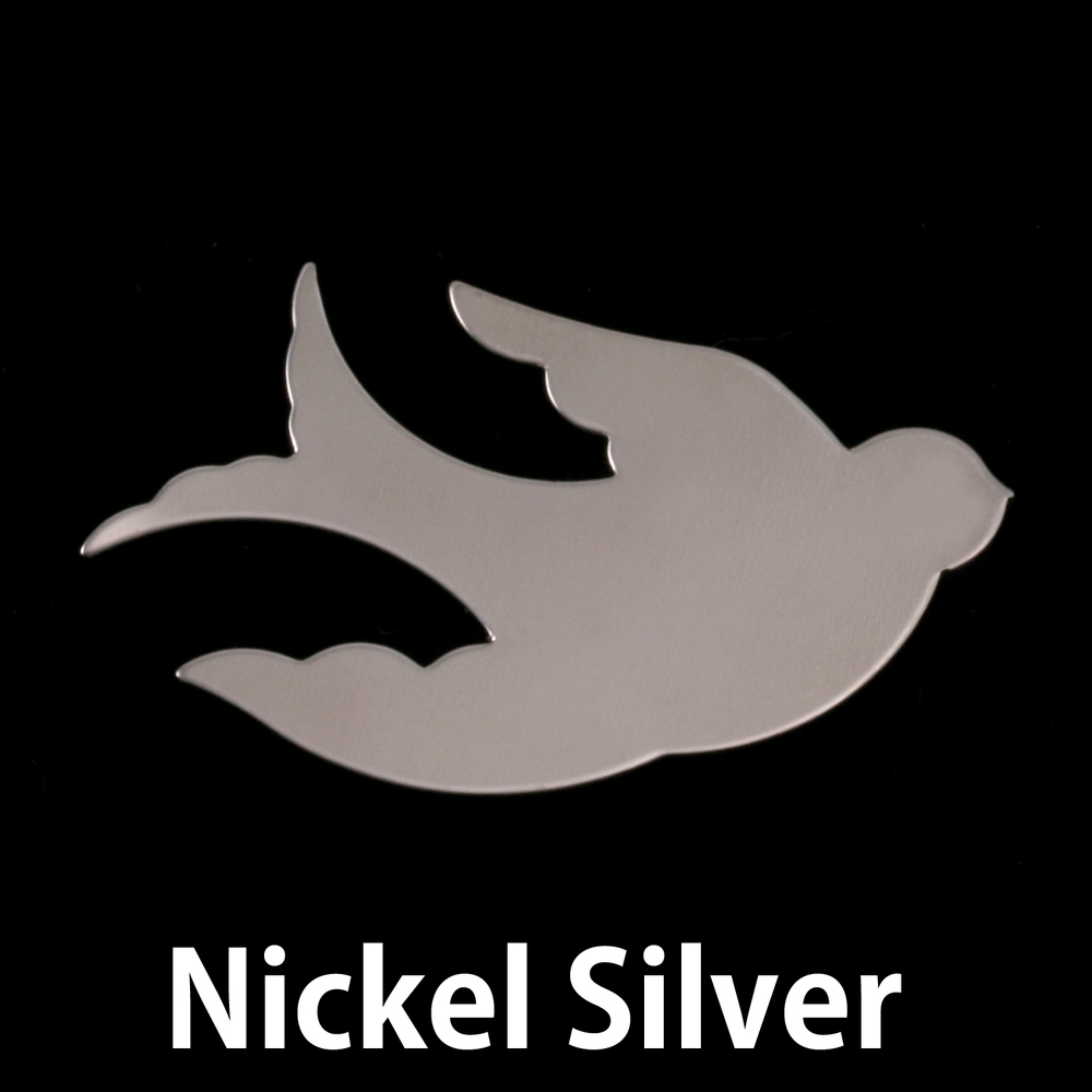 Metal Stamping Blanks Nickel Silver Sparrow, 24g
