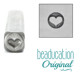 Metal Stamping Tools Radiant Heart Metal Design Stamp- Beaducation Original
