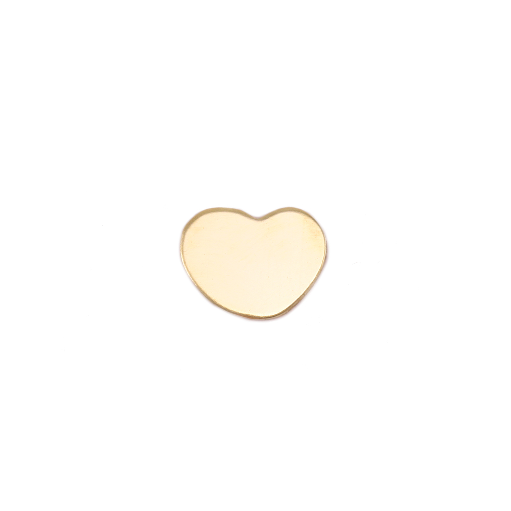 "Metal Stamping Blanks Gold Filled Heart, 8.5mm (.33"") x 6.5mm (.26""), 24g"