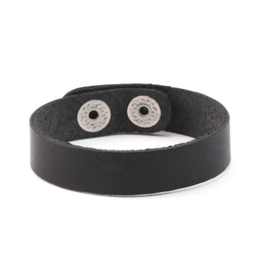 "Leather Stampable Leather Cuff 1/2"" Black"