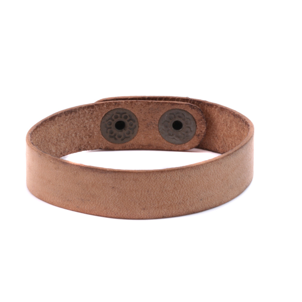 "Leather & Faux Leather Stampable Leather Cuff Bracelet 1/2"" Distressed"