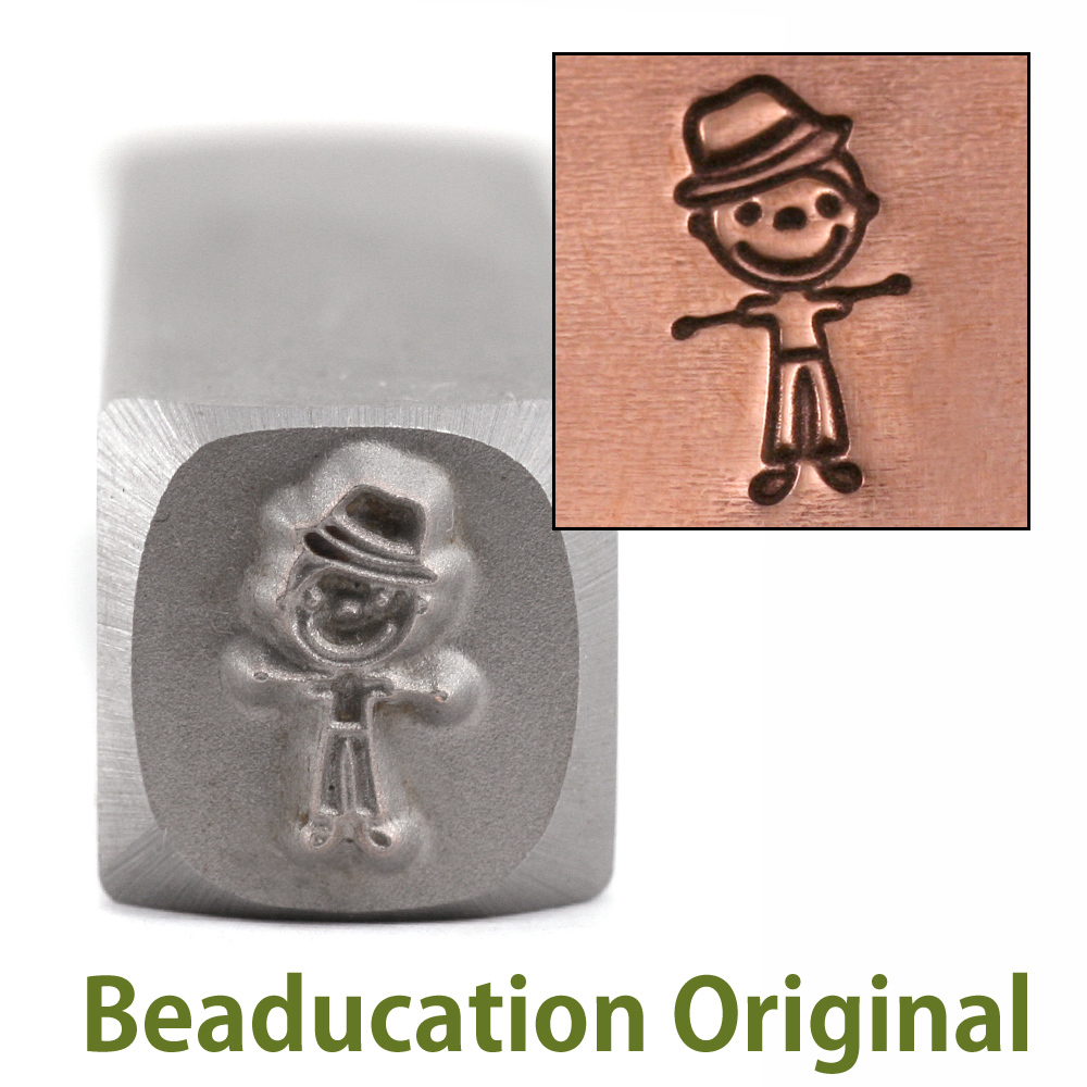 Metal Stamping Tools Uncle/Adult Son Stick Figure Metal Design Stamp- Beaducation Original