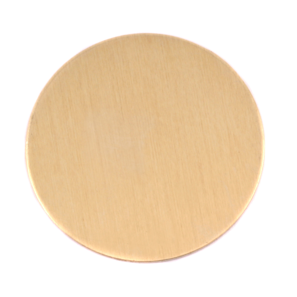 "Metal Stamping Blanks Brass Round, Disc, Circle, 32mm (1.25""), 24 Gauge, Pack of 5"
