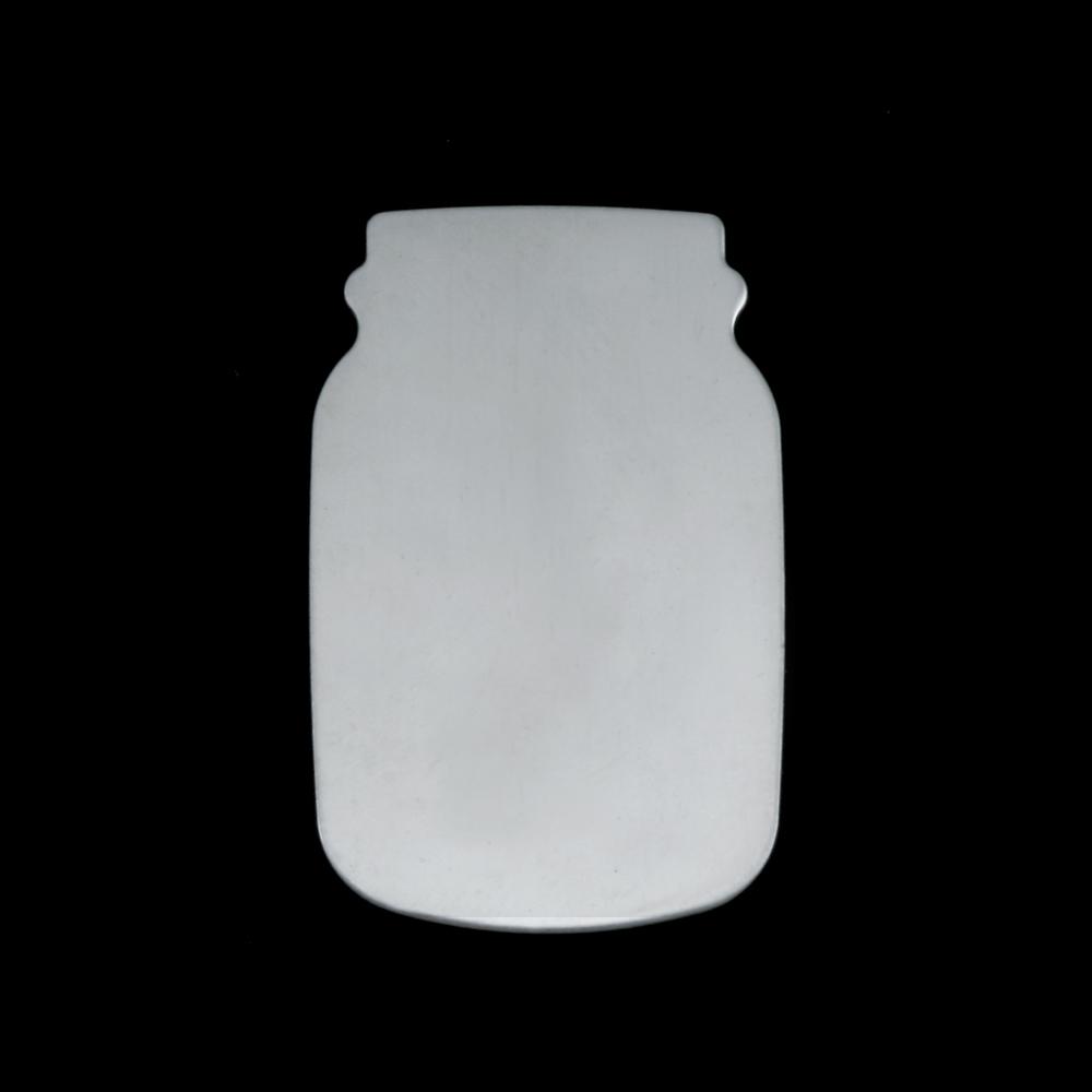 Metal Stamping Blanks Sterling Silver Mason Jar, 24g