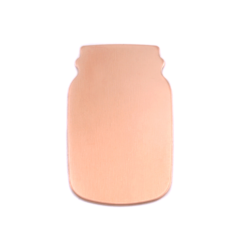 Metal Stamping Blanks Copper Mason Jar, 24g