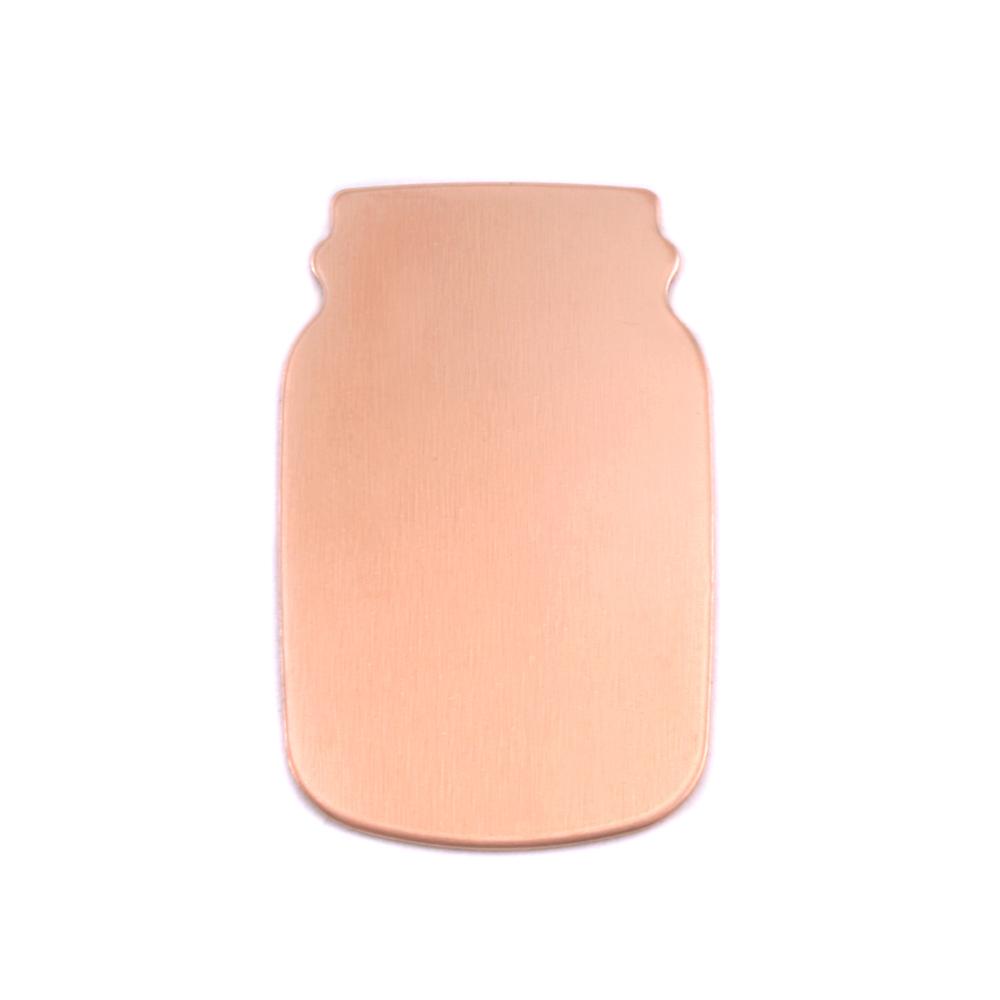 Metal Stamping Blanks Copper Mason Jar, 24g