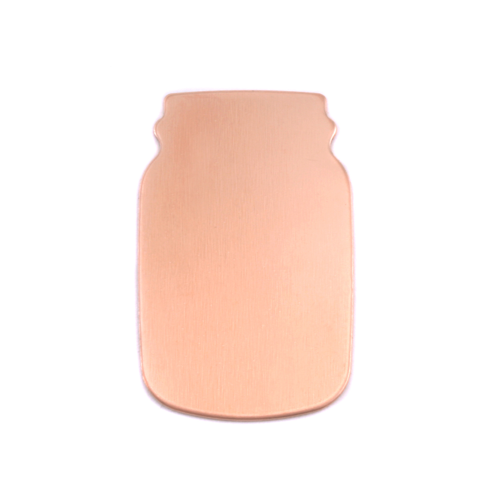 "Metal Stamping Blanks Copper Mason Jar, 27mm (1.06"") x 17mm (.67""), 24g, Pk of 5"