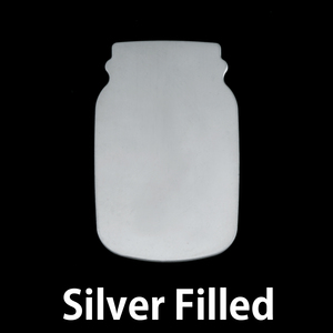 Metal Stamping Blanks Silver Filled Mason Jar, 24g