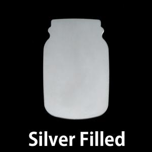 Metal Stamping Blanks Silver Filled Mason Jar, 24g