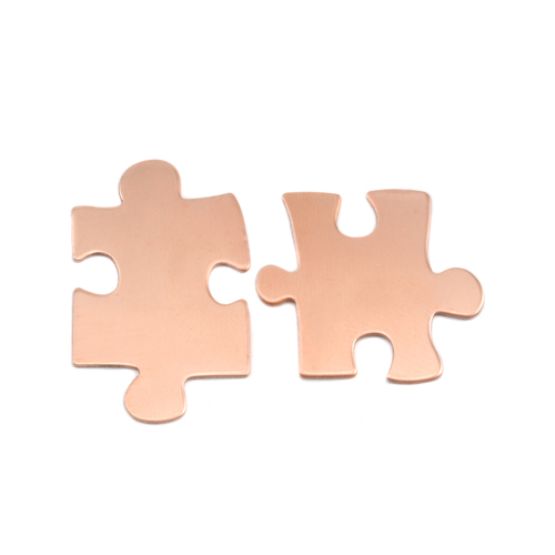 Metal Stamping Blanks Copper Paired Puzzle Pieces, 24g