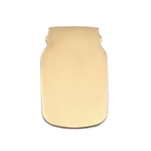 "Metal Stamping Blanks Brass Mason Jar, 27mm (1.06"") x 17mm (.67""), 24g"