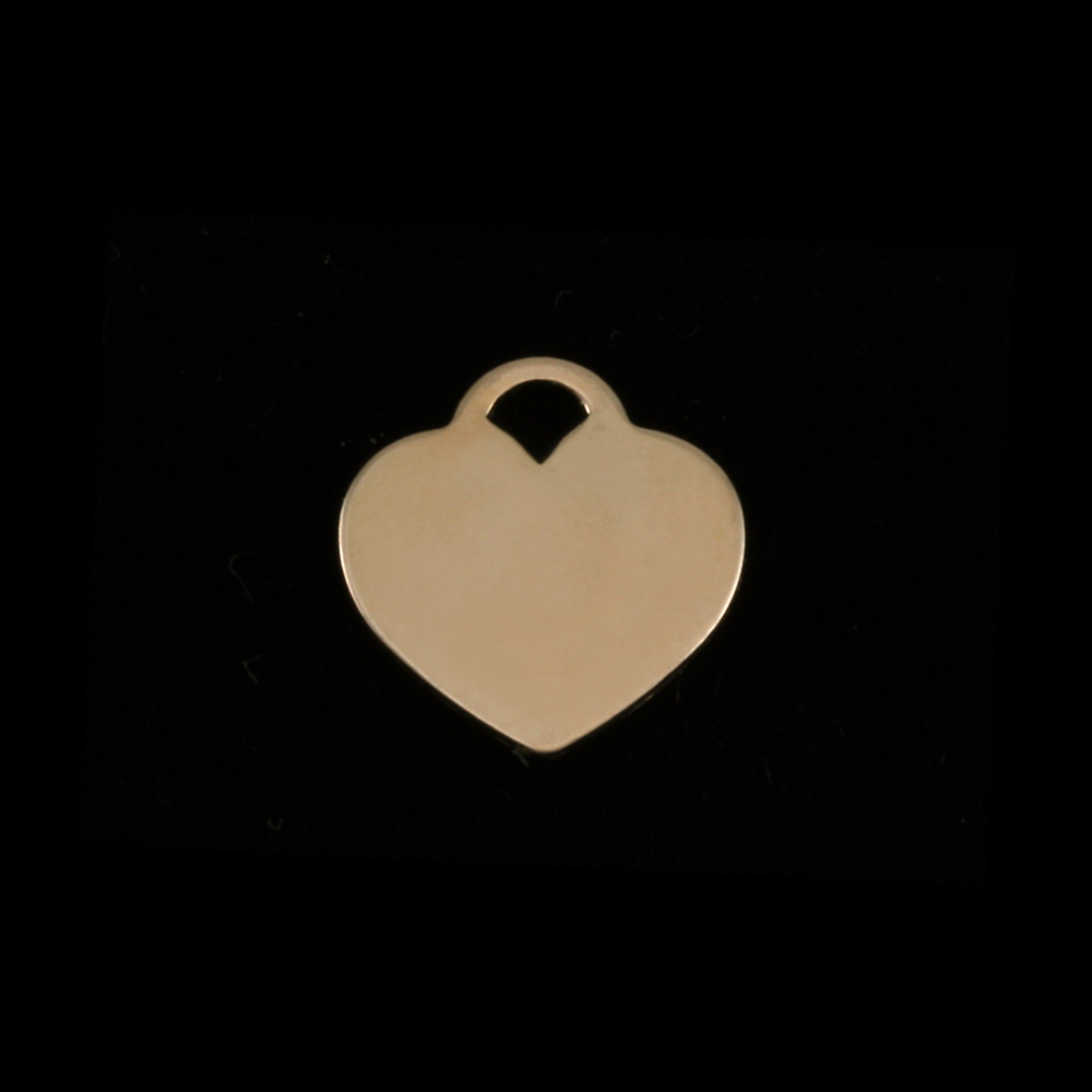 "Metal Stamping Blanks Gold Filled ""Tiffany"" Style Heart, 13mm (.51"") x 12mm (.47""), 24g"