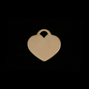 "Metal Stamping Blanks Gold Filled Small ""Tiffany Style"" Heart, 24g"