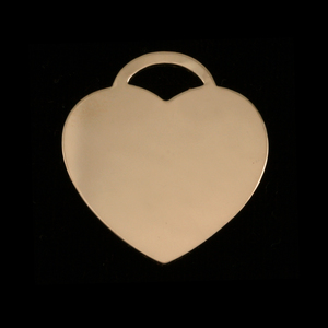"Metal Stamping Blanks Gold Filled ""Tiffany"" Style Heart, 24g"