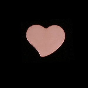 Metal Stamping Blanks Rose Gold Filled Small Stylized Heart, 24g